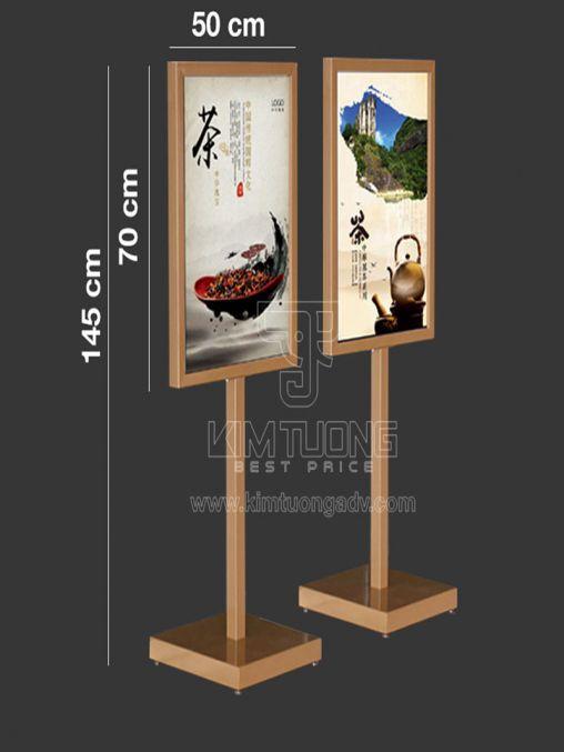 Khung Banner - Poster 2 Mặt Đứng