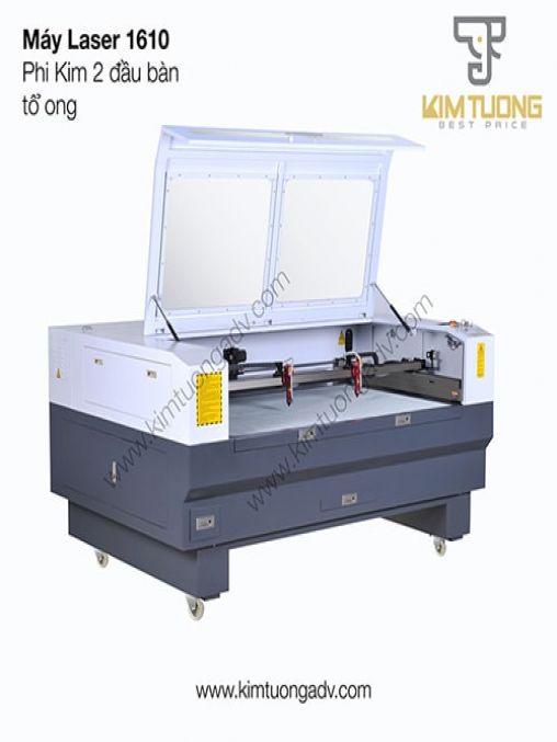 Máy Laser 1610 Phi Kim 2 Đầu  Bàn Tổ Ong