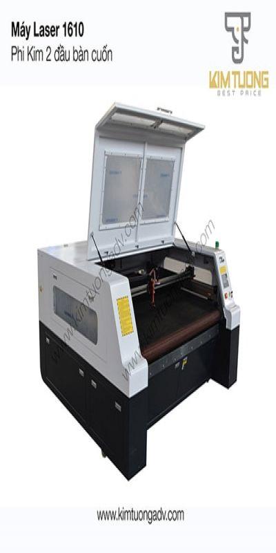 Máy Laser 1610 Phi Kim 2 Đầu  Bàn Cuộn - Chuyên Cắt Vải