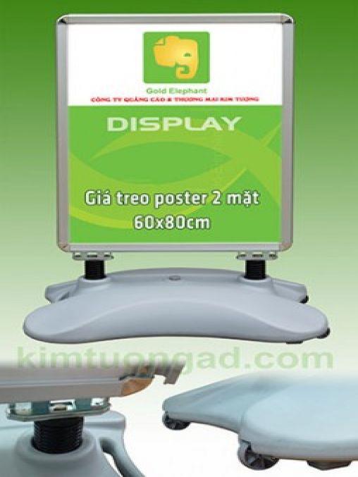 Giá treo poster 2 mặt chân nước 60x80cm
