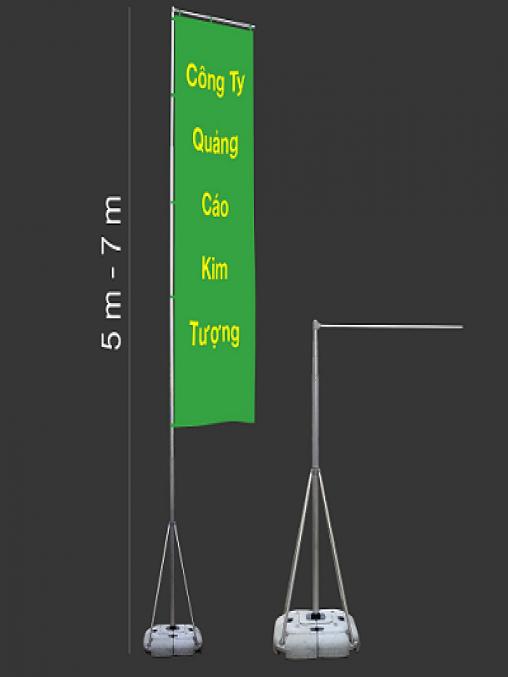 Cờ Quảng Cáo Đế Nước Hợp Kim Nhôm 7 Mét